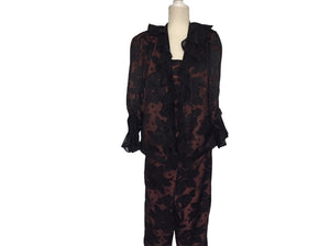 Vintage Custom - Satin 3 Piece Pantsuit