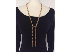 Vintage Tassel Necklace - Chain Belt