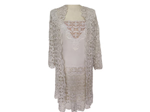 Vintage Custom - White Lace Evening Suit