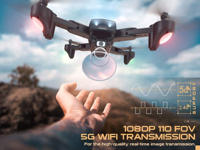 SNAPTAIN SP500 1080P HD Camera Foldable GPS FPV Beginner Drone