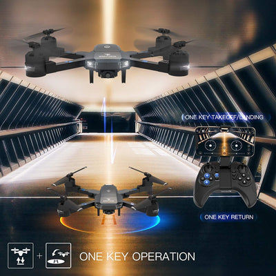 Snaptain A15H foldable beginner drone with one key operation