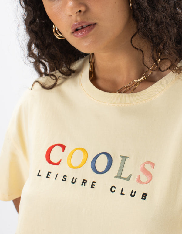 Leisure Club Boxy Tee Lemon