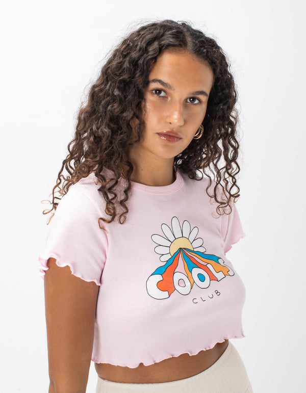 Lettuce Edge Flower Power Tee Pink