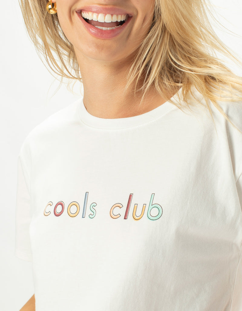 Colour Cools Club Sunday Tee White
