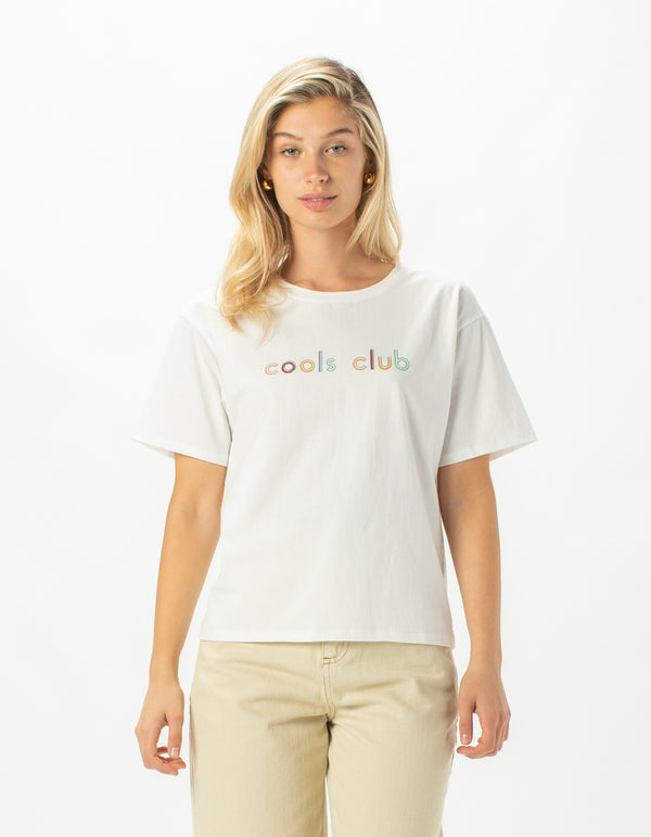 Cools Club Sunday Tee White