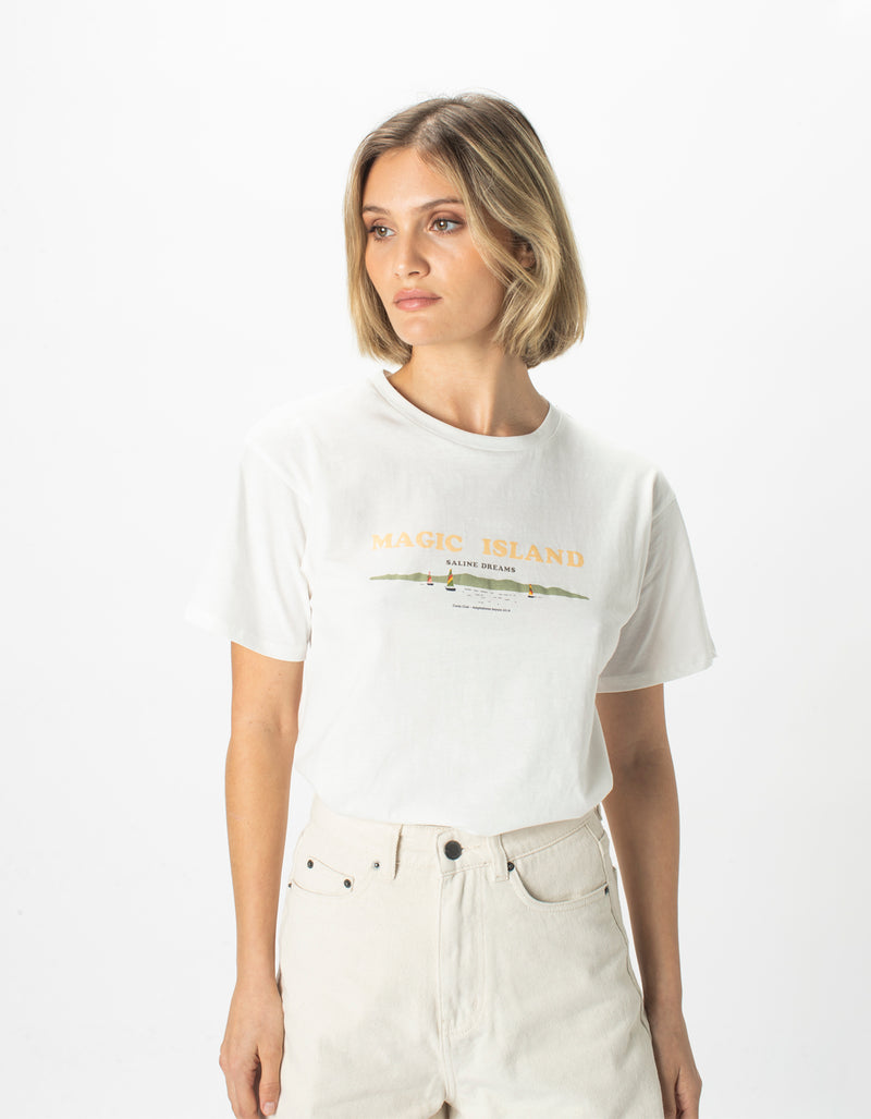 Magic Sunday Tee White