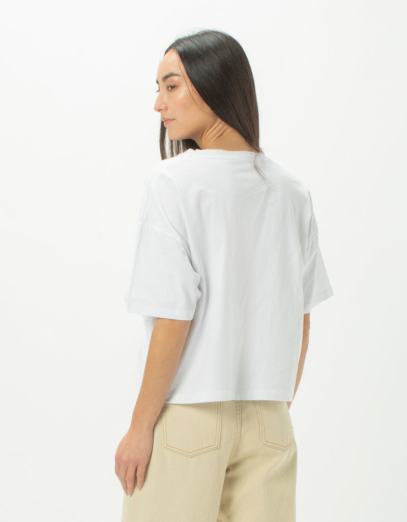 Colour Cools Boxy Tee White