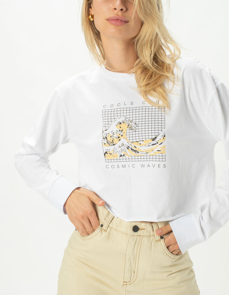Homegirl Long Sleeve Tee Cosmic Waves