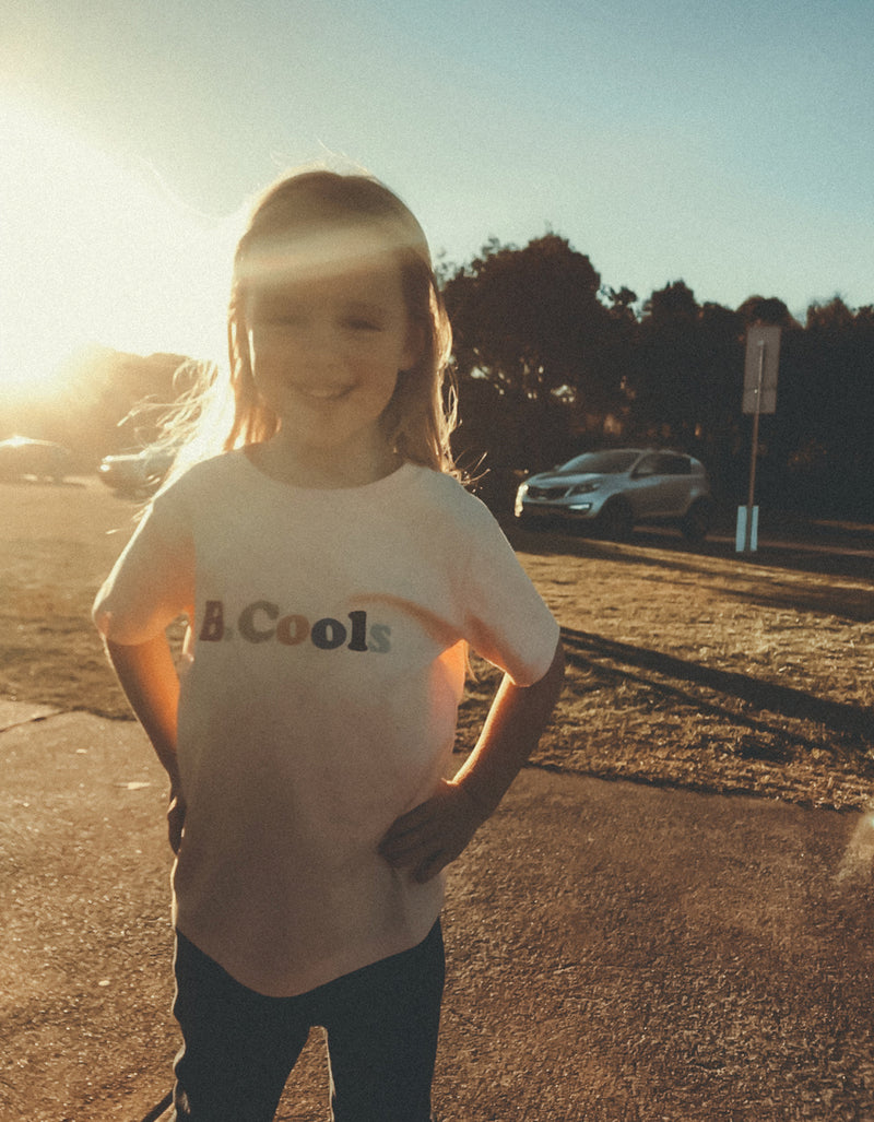Cools Retro Kids Tee Pink