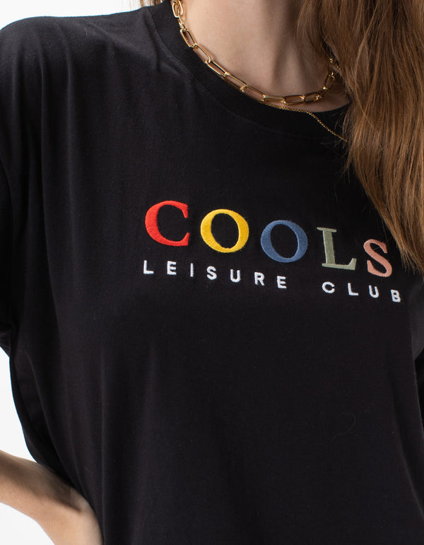 Leisure Club Boxy Tee Black