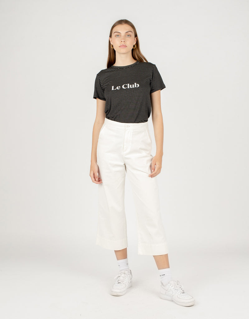 Le Club Classic Tee Black Stripe