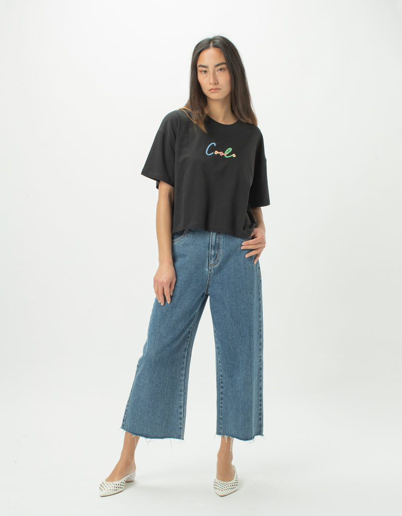 Colour Cools Boxy Tee Black