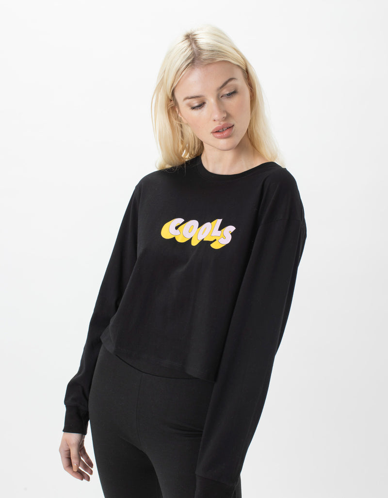 Retro Cools LS Tee Black