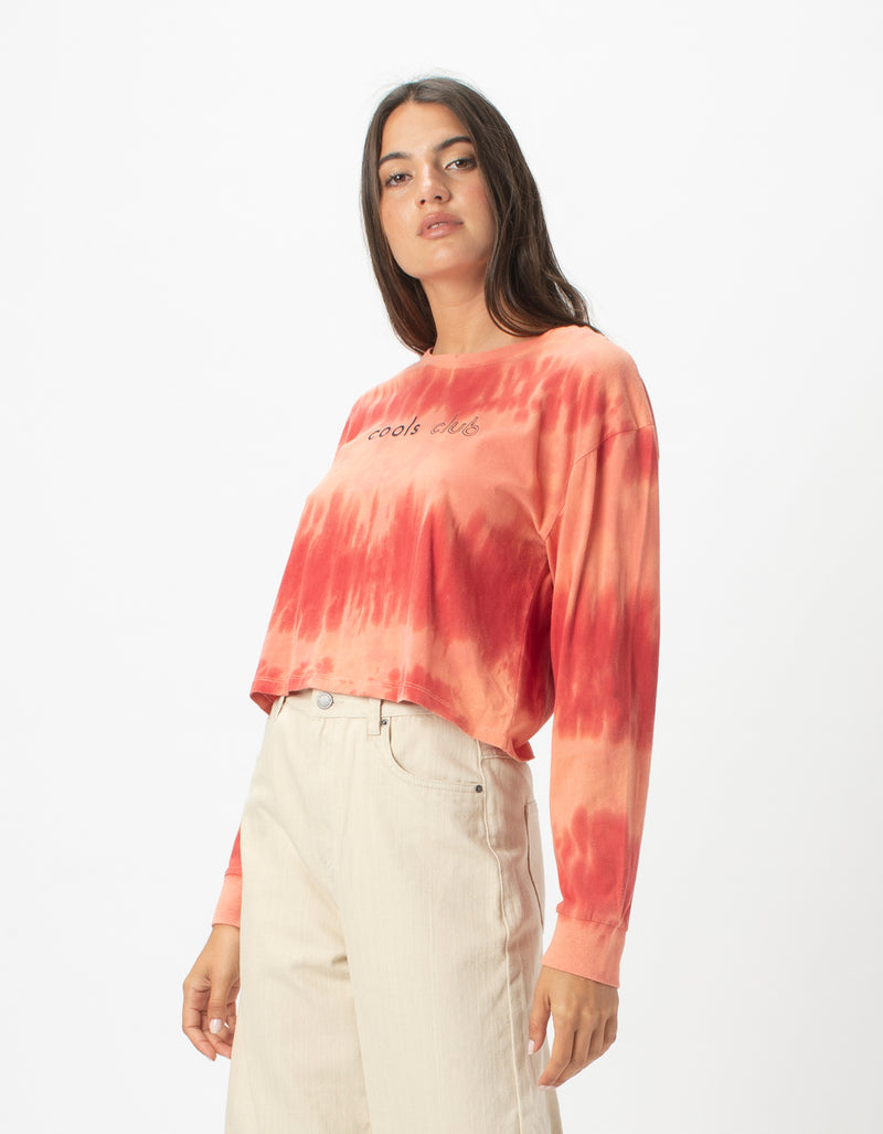 Homegirl Long Sleeve Tee Blush Tie Dye
