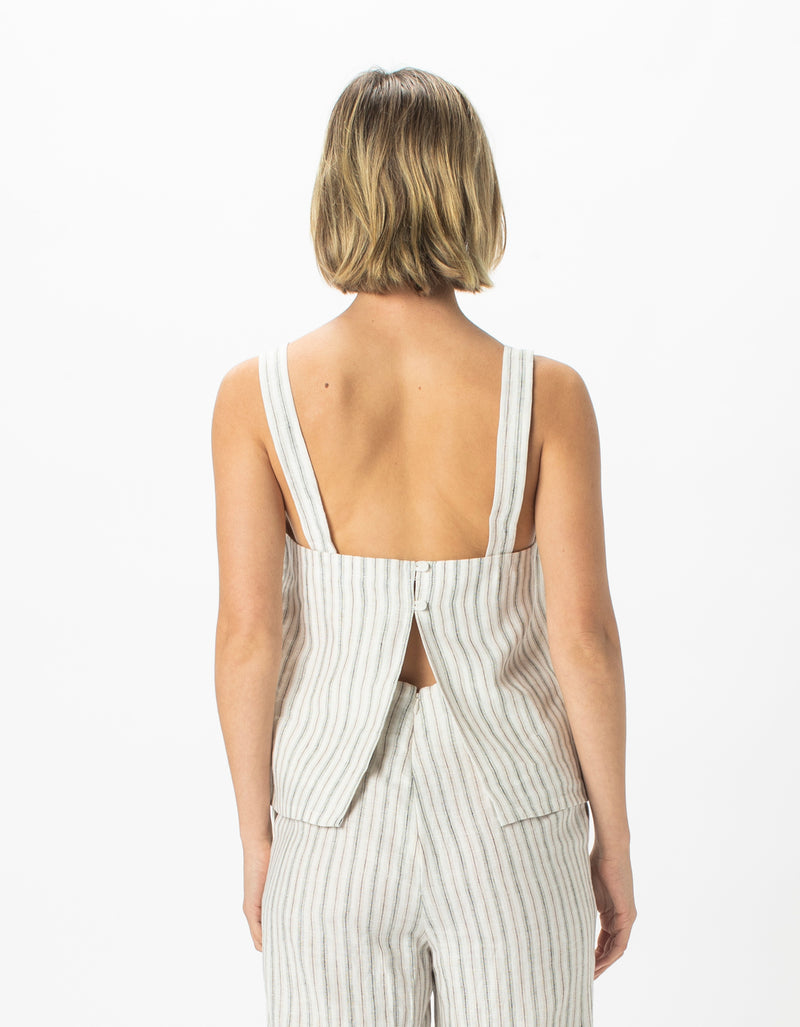 Shift Top Linen Stripe