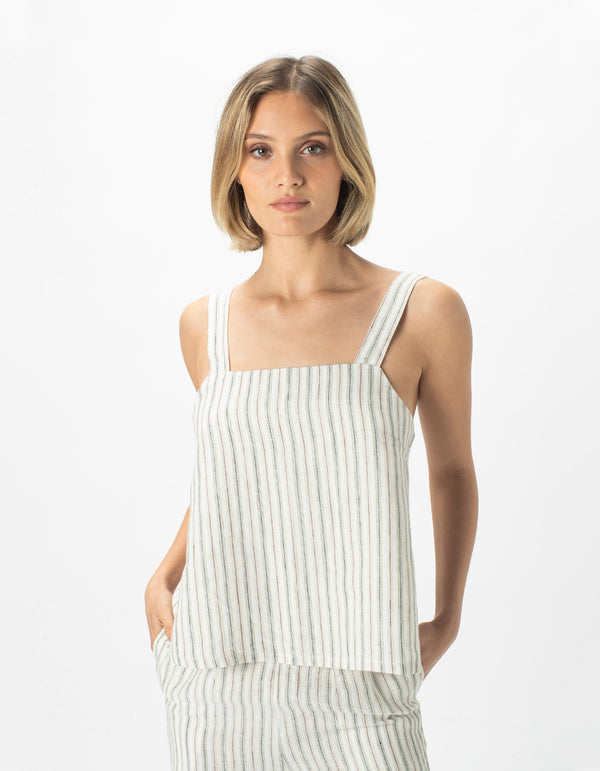 Shift Top Linen Stripe - Sale