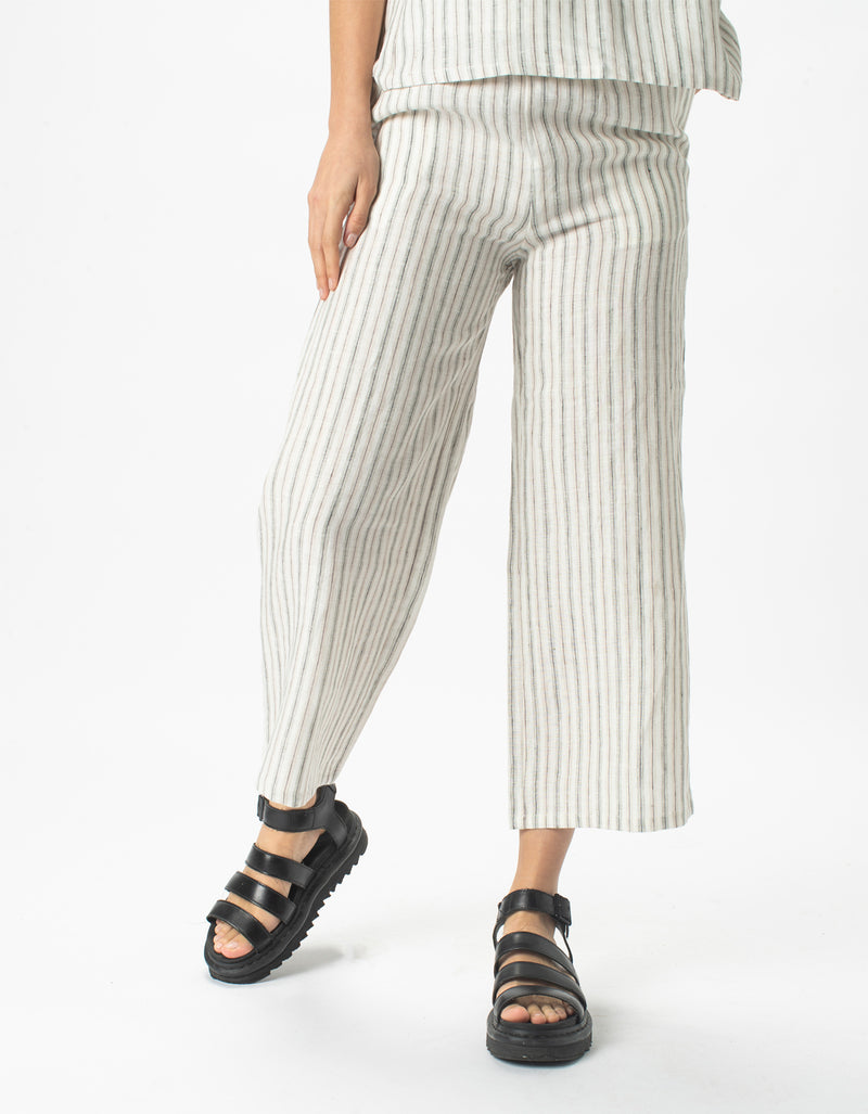 Easy Pants Linen Stripe