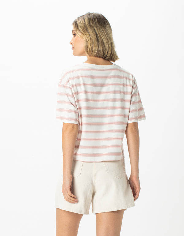 Homegirl Tee Rose Stripe