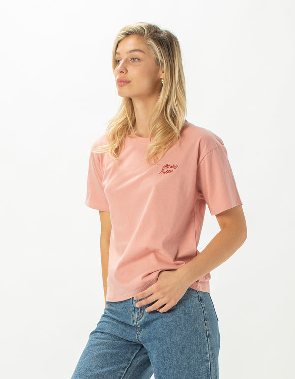 All Day Buffet Sunday Homegirl Tee Blush - Sale