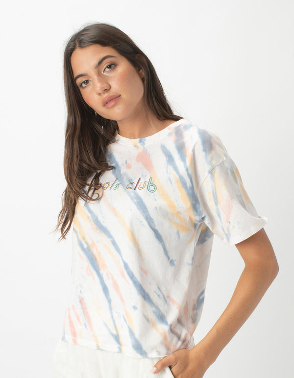 Sunday Tee Faded Tie Dye