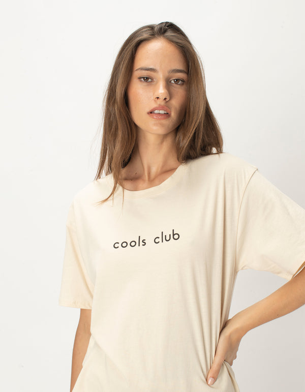 Cools Club Sunday Tee Natural