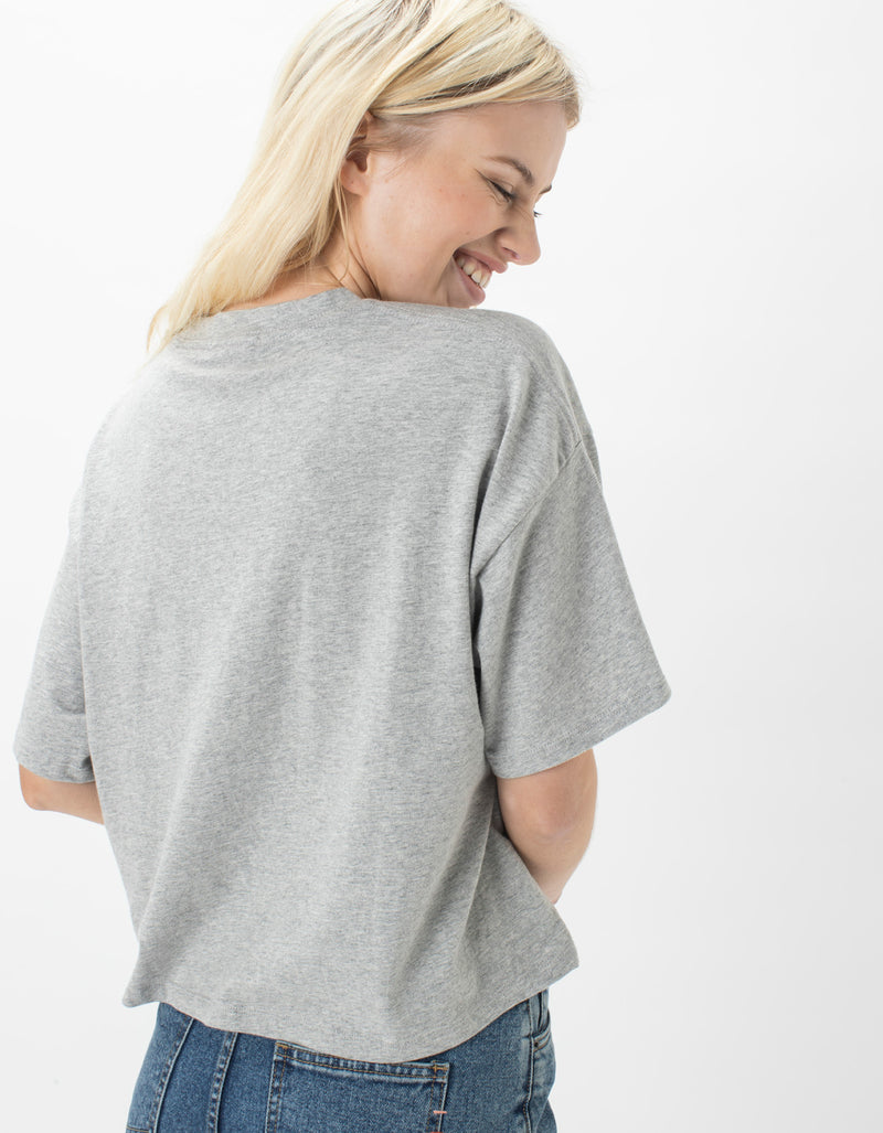 Leisure Club Boxy Tee Grey Melange
