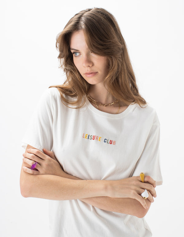 Leisure Embro Sunday Tee White