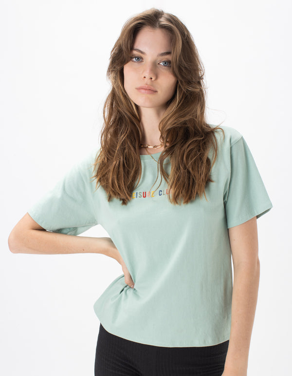 Leisure Embro Sunday Tee Seagrass