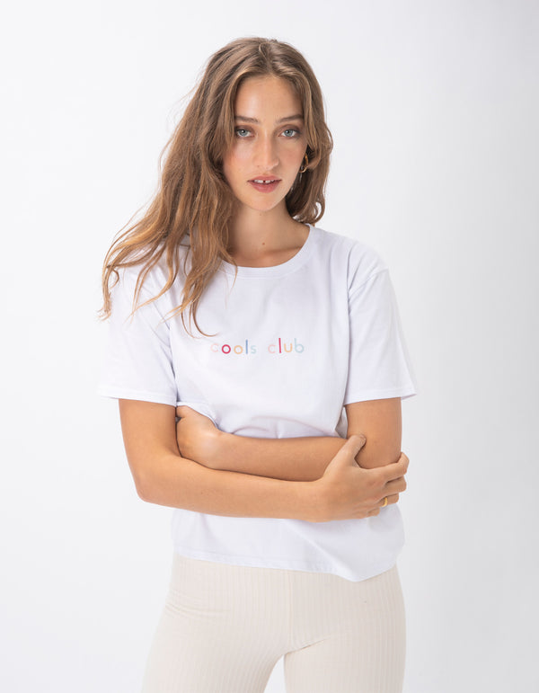 Cools Club Sunday Colour Tee White