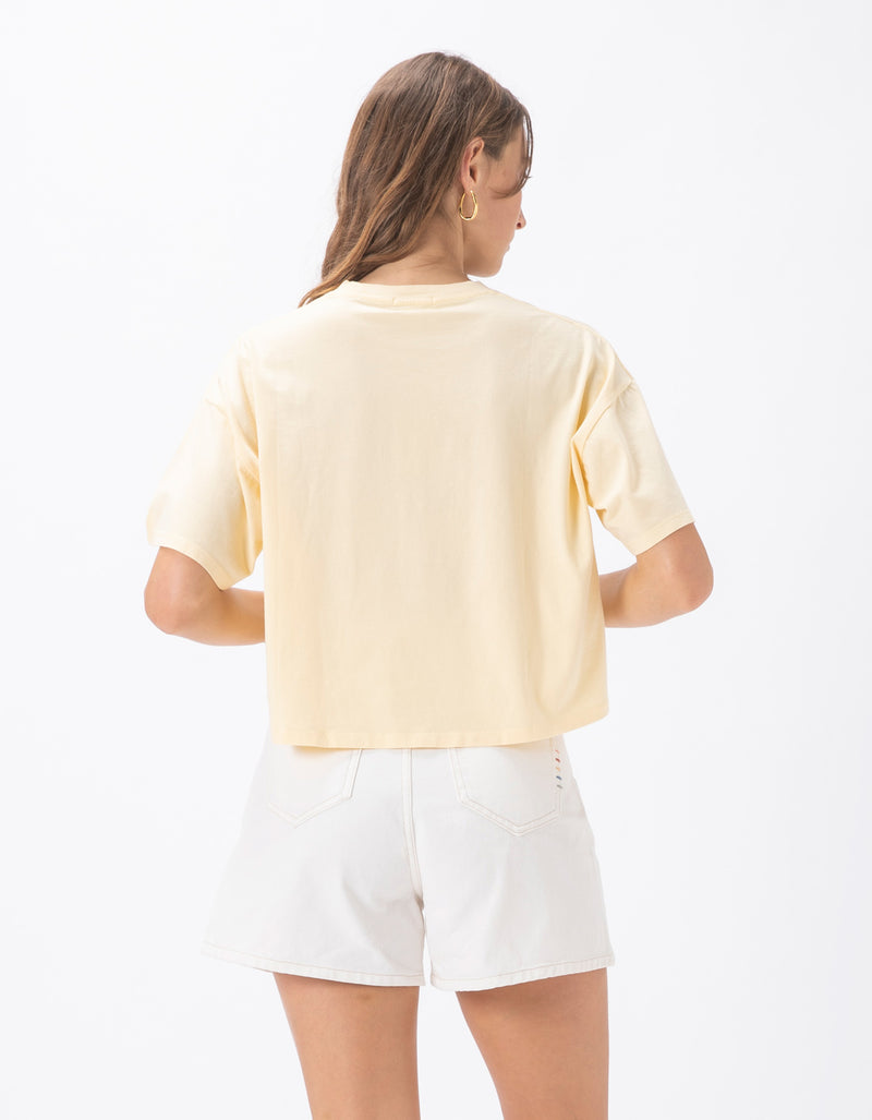 Permanent Crop Tee Lemon