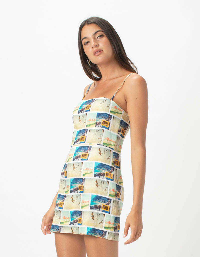 Fitted Shift Dress Holiday Print