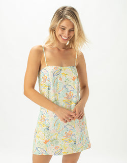 Flowy Shift Dress White Summer - Sale