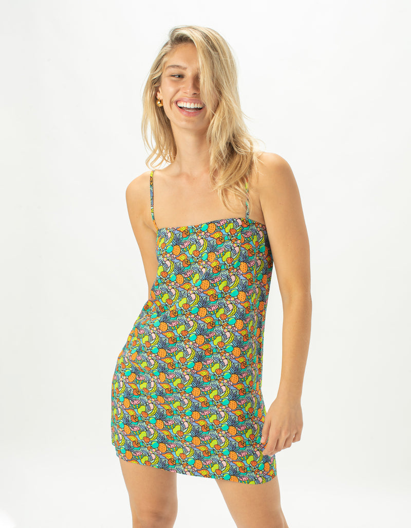 Flowy Shift Dress Tutti Fruitti