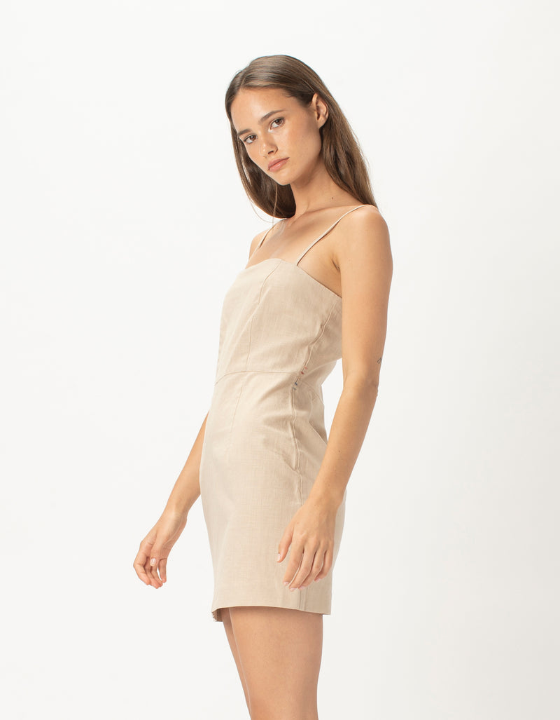Fitted Shift Dress Natural