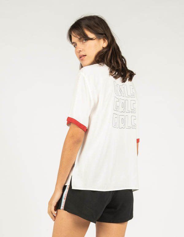 Girls Girls Girls Resort Shirt White - Sale