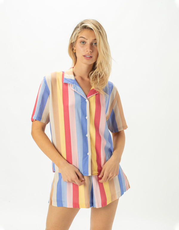 Resort Shirt 70's Stripe