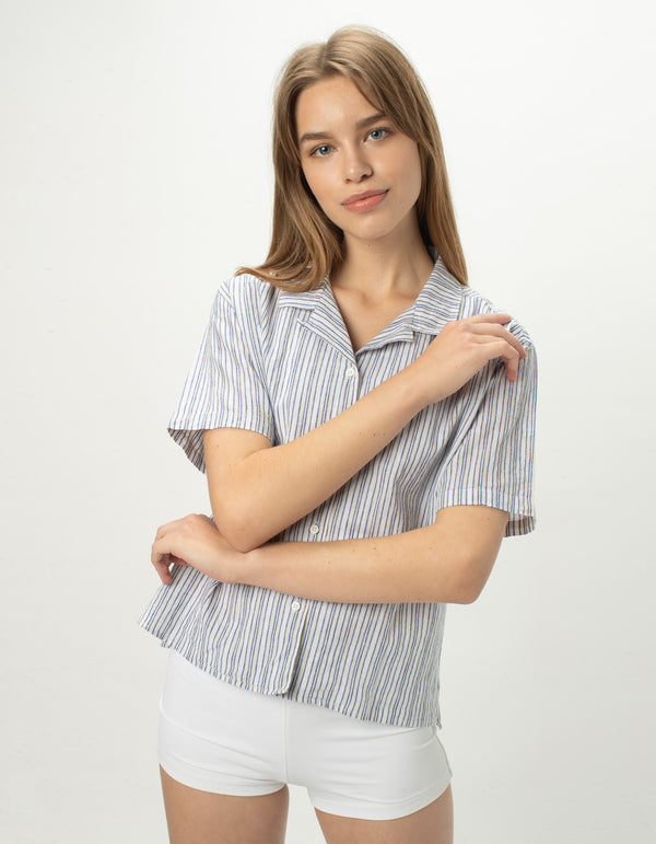 Resort Shirt Blue Stripe