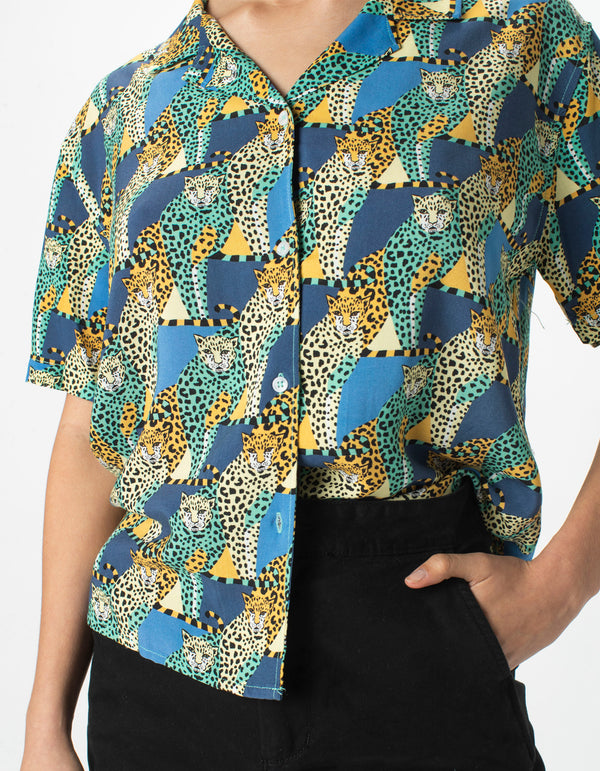 Resort Shirt Loungin Leopard