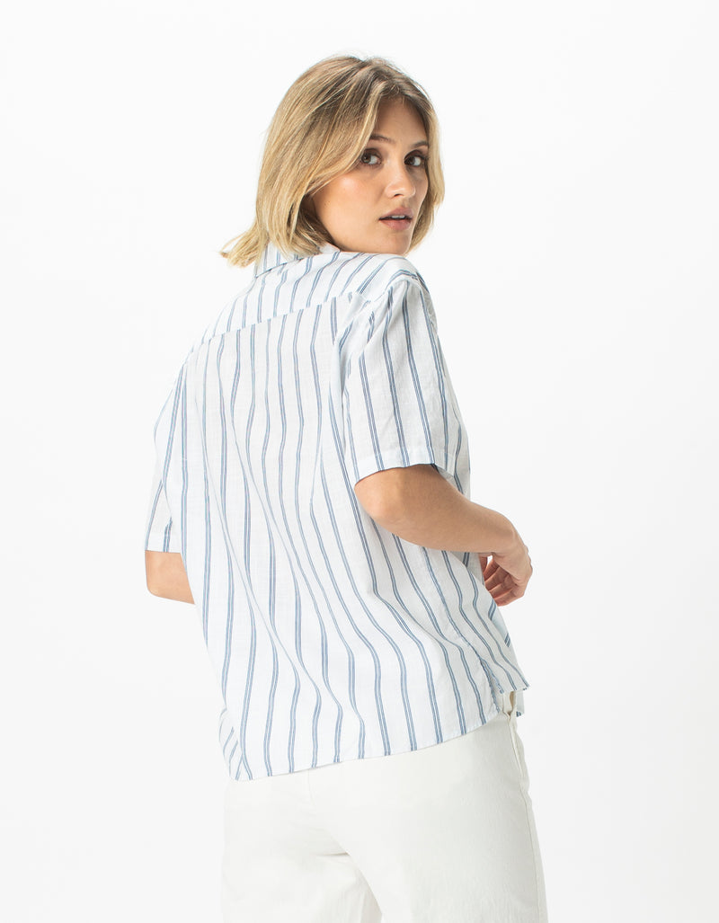Resort Shirt White Stripe - Sale