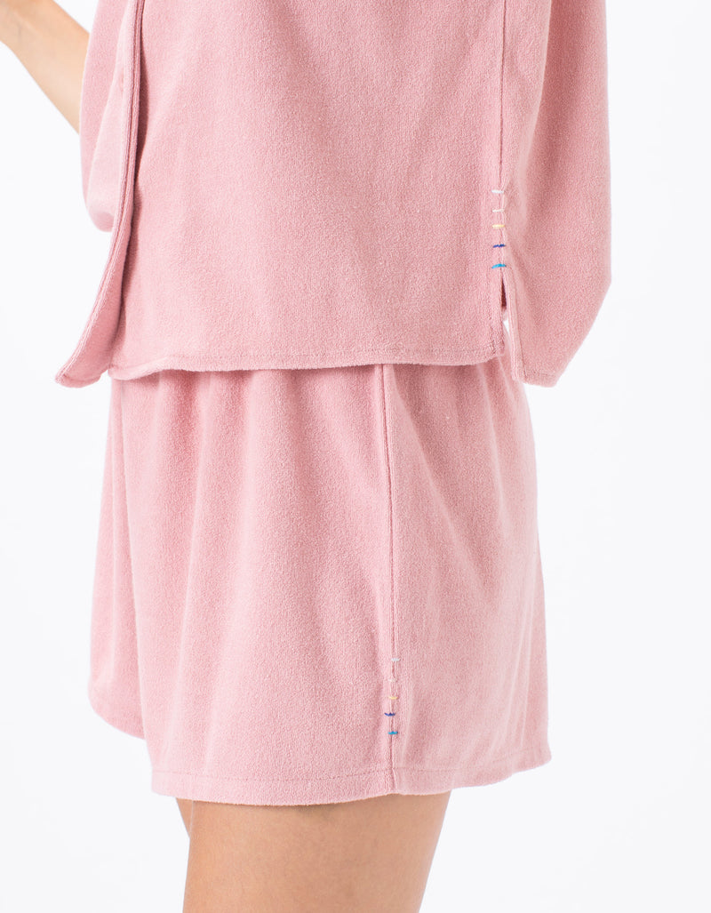 Poolside Terry Shorts Dusty Pink