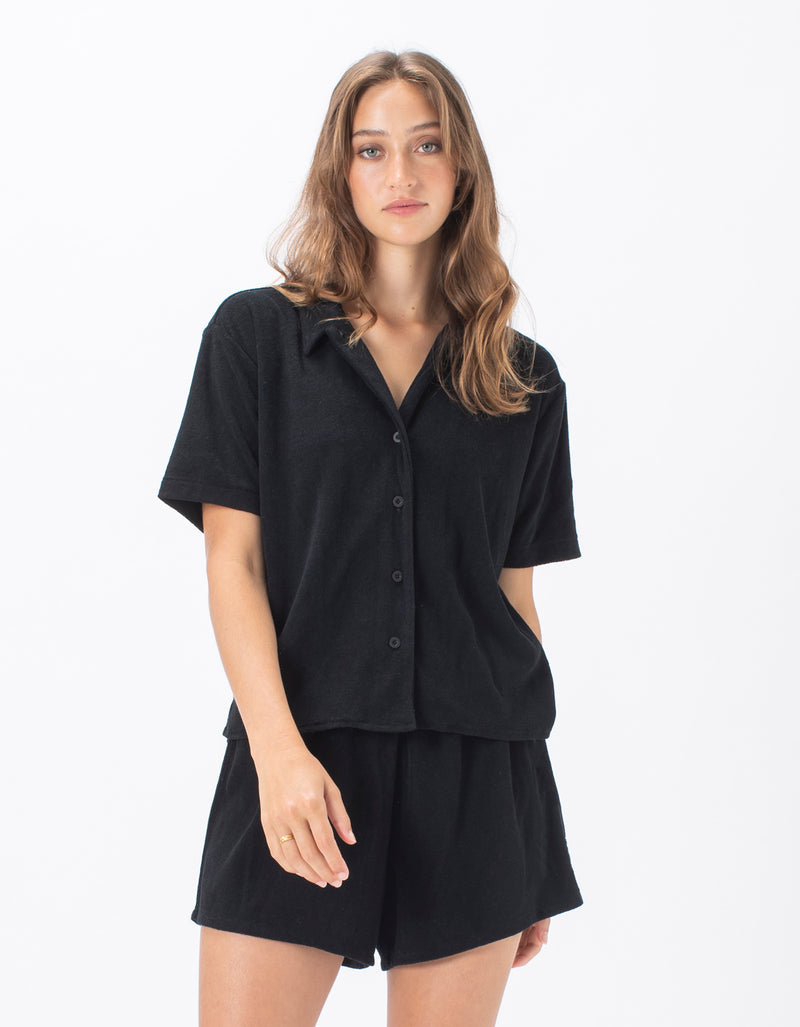 Poolside Terry Shirt Black