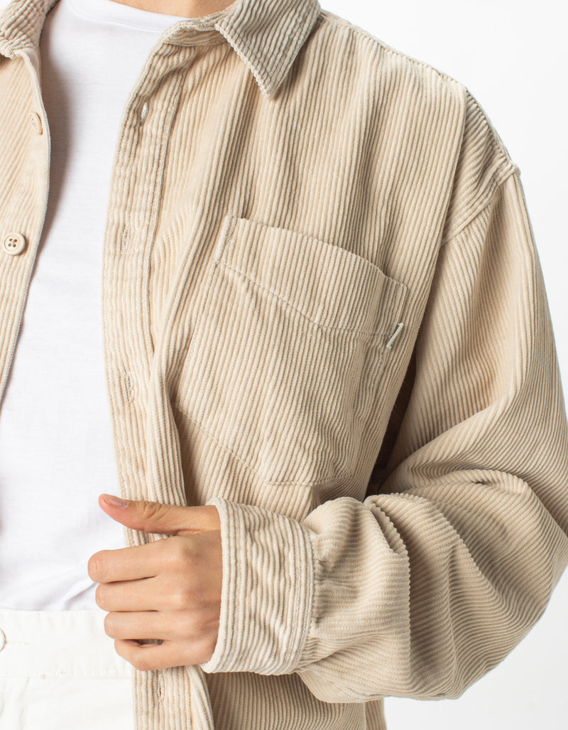 Corduroy Club Long-Sleeve Shirt Stone