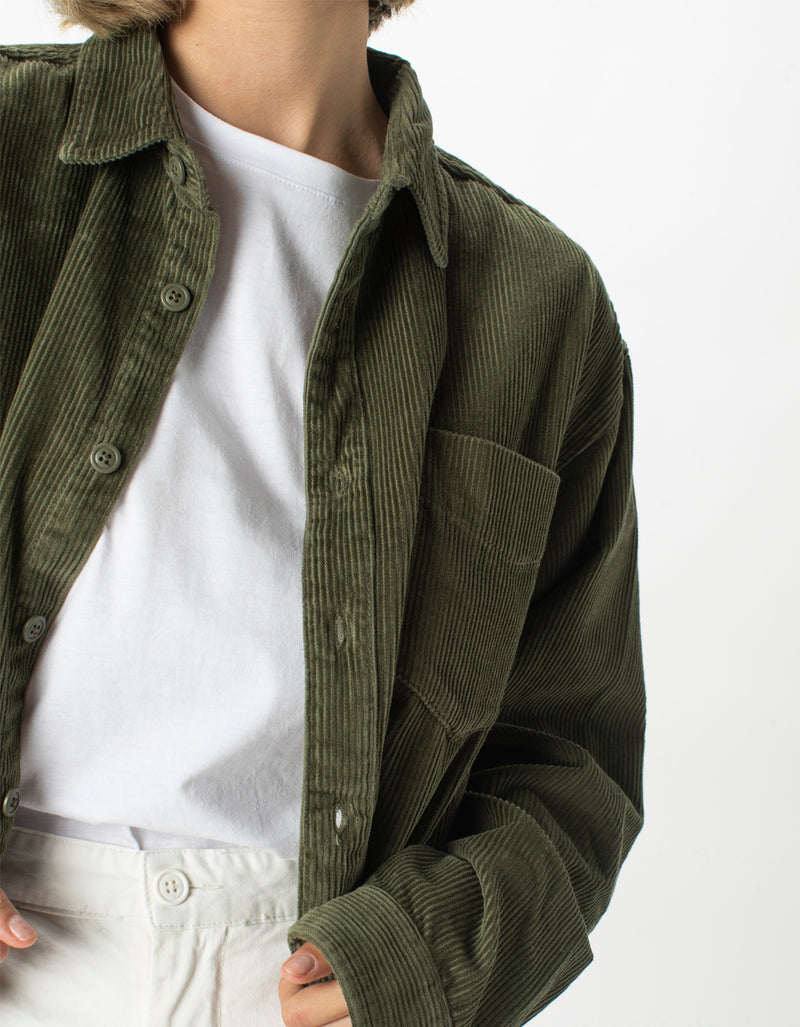Corduroy Club Long-Sleeve Shirt Sage