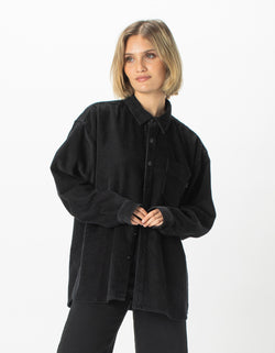 Corduroy Club Long Sleeve Shirt Black