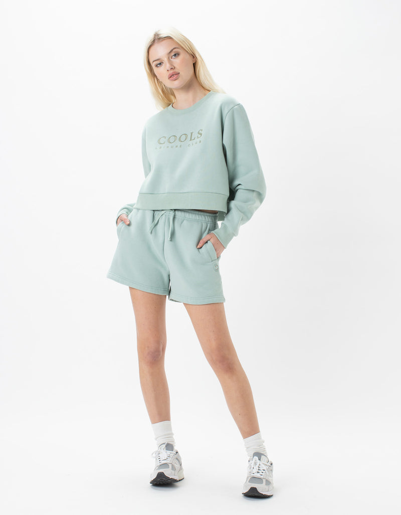Leisure Club Crew Fleece Mint