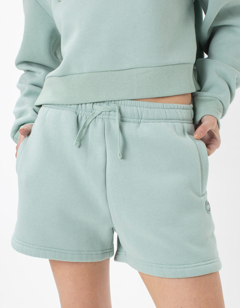 Leisure Club Fleece Shorts Mint