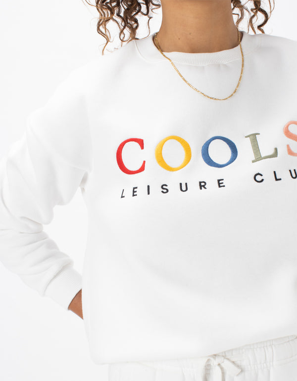 Leisure Club Sweat White
