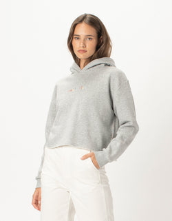 Colour Member Crop Hood Grey Melange