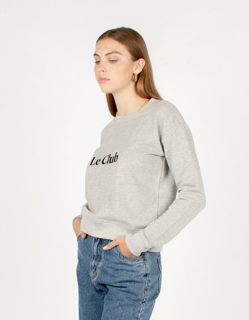 Le Club Crew Sweatshirt Grey Melange