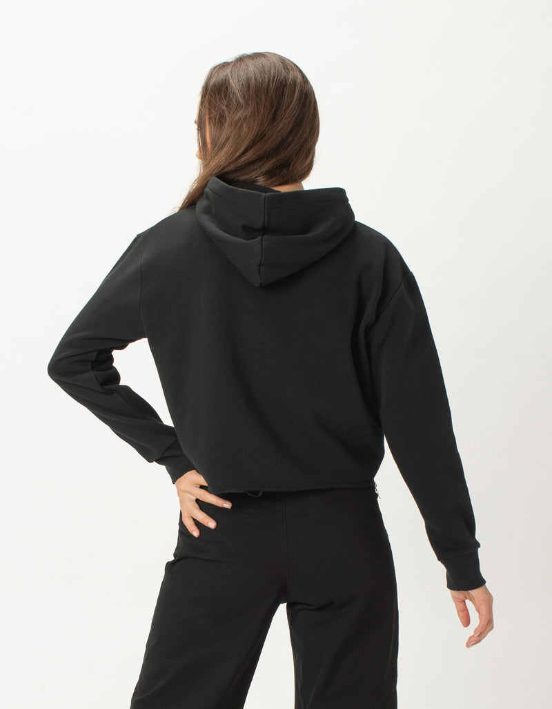 Colour Member Crop Hood Black